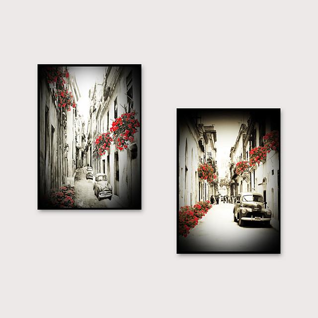 Framed Art Print Framed Set - Landscape Scenic PS Oil Painting Wall Art