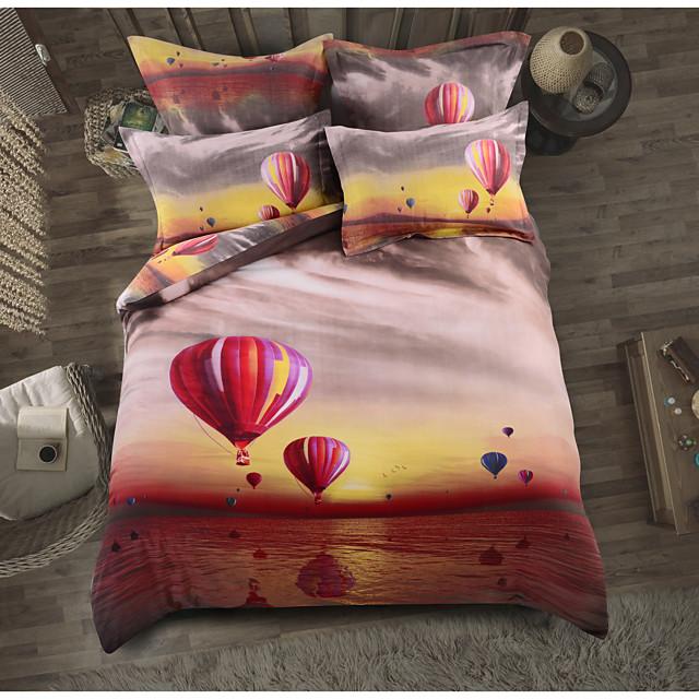 Duvet Cover Sets Floral / Botanical Polyester / Polyamide Printed 6 PieceBedding Sets
