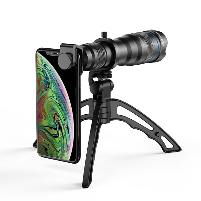 Lentille de téléphone portable Longue Distance Focale verre X10 et plus 50 mm 5 ° Lentille avec Support / Nouveau design / Frais