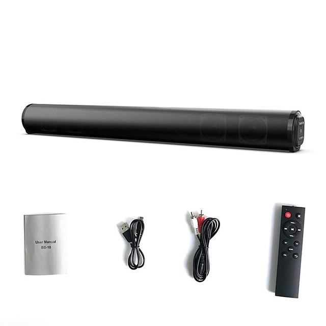BS-10 Home Theater Surround Multi-function Bluetooth Soundbar Speaker with 4 Full Range Horns Support Foldable Split for TV/PC