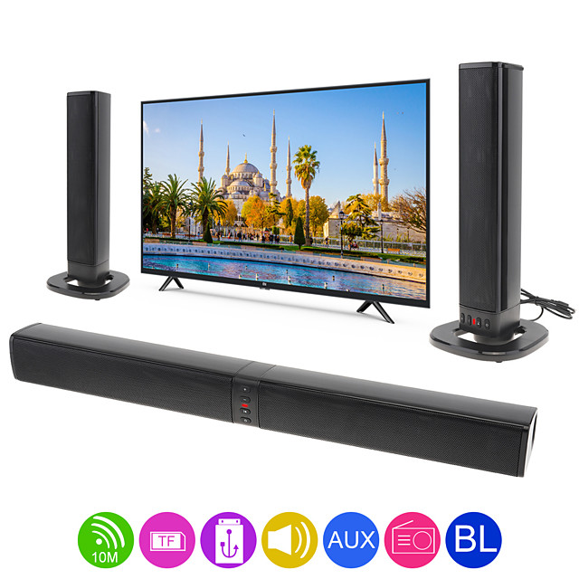 BS-36 Home Theater Multifunctional Bluetooth Soundbars Speaker with 4 Horns/3D Stereo Sound Support Foldable/Split for TV/PC