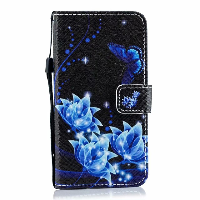Case For Asus Card Holder / with Stand / Flip Full Body Cases Butterfly / sky / Flower PU Leather