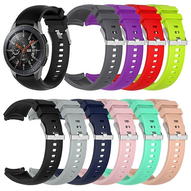 Watch Band for Gear S3 Classic / Gear 2 R380 / Gear 2 Neo R381 Samsung Galaxy Classic Buckle Silicone Wrist Strap