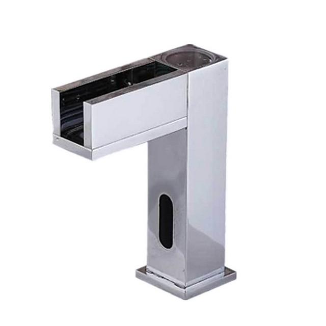 Robinet lavabo - non tactile Plaqué Sur Pied Mitigeur un trouBath Taps