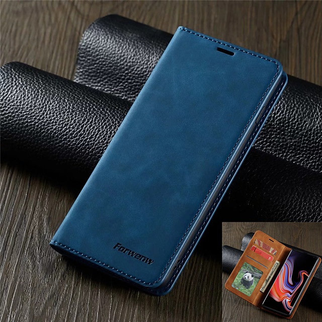 Luxury Leather Case for Samsung Galaxy S20 S20 Plus S20 Ultra S10 S10E S10 Plus S10 5G S9 S9 Plus A51 A71 A10 A20 A30 A40 A50 A70 A70S A20E A50S A30S M10 Forwenw Leather Case Magnetic Flip