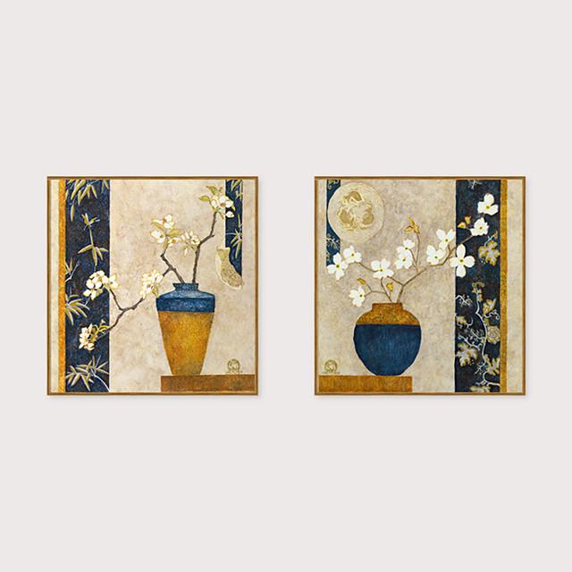 Framed Art Print Framed Set - Floral / Botanical PS Oil Painting Wall Art