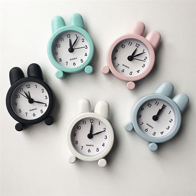 1PC fashion Cute Small Bed Alarm Clock Compact Digital Alarm Clock Mini kid Student Desk Table Clock