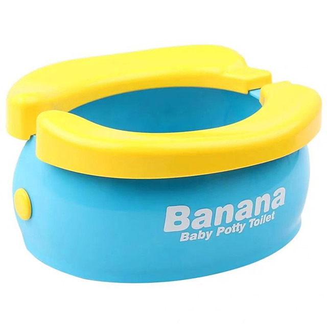 Lovely Portable Convenient Banana Shape Foldable Toilet Kids Toilet Potty for Travel Babies Toddlers Children Home