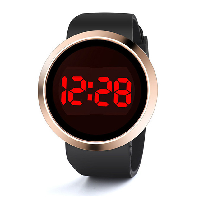 Men and Women Sport Watch Quartz Silicone Black / White Calendar / date / day Chronograph New Design Digital Outdoor New Arrival - Black White One Year Battery Life
