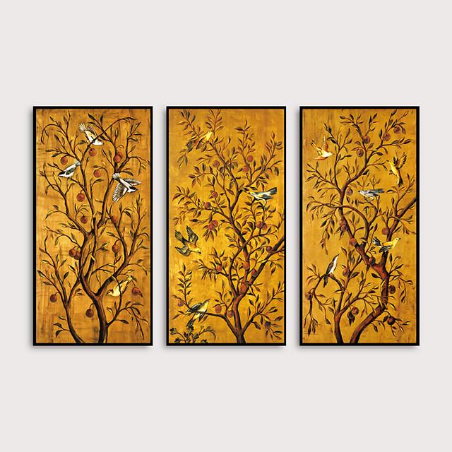 Framed Art Print Framed Set - Animals Floral / Botanical PS Oil Painting Wall Art