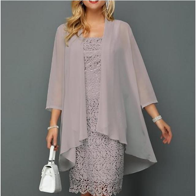 3/4 Length Sleeve Coats / Jackets Chiffon Wedding Women's Wrap With Ruching