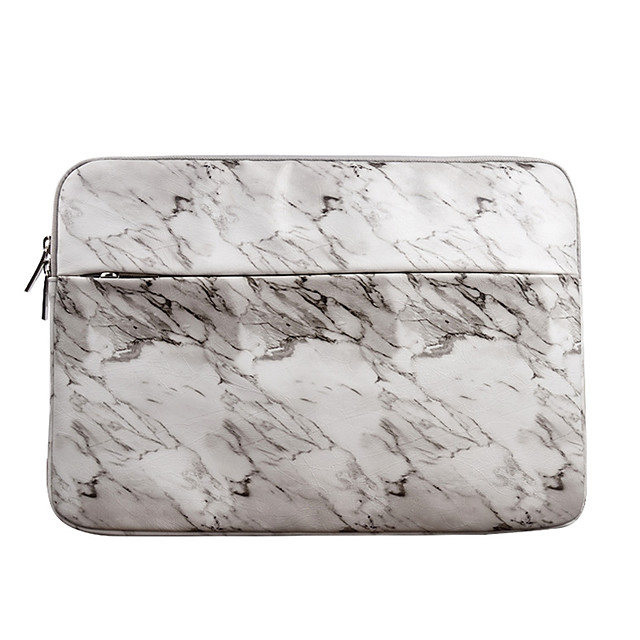 11.6 12 13.3 14.1 15.6 inch PU Leather Marble print  Water-resistant Shock Proof Laptop Sleeve Case Bag for Macbook/Surface/Xiaomi/HP/Dell/Samsung/Sony Etc