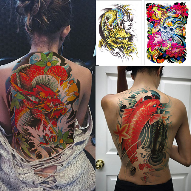 1 pcs Temporary Tattoos Water Resistant / Waterproof / Safety / Best Quality Body / Back Water-Transfer Sticker Body Painting Colors