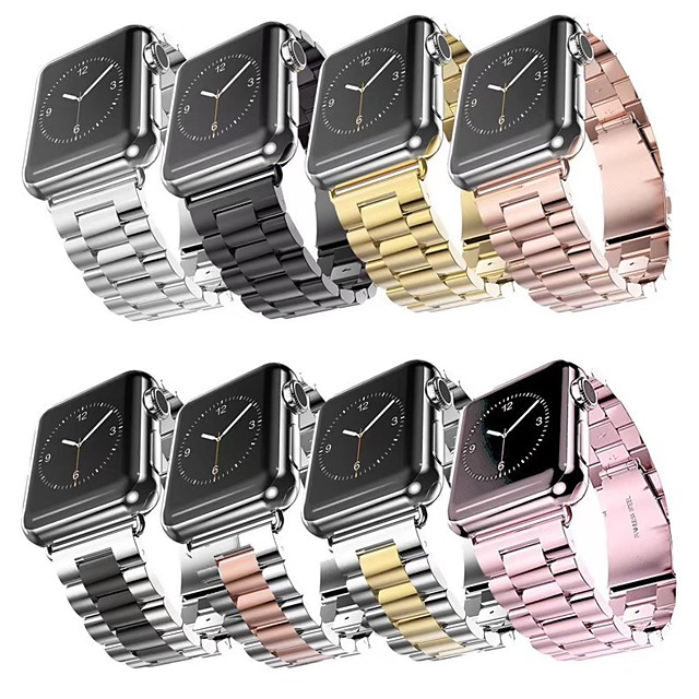Smart Watch Band for Apple Watch Series 5/4/3/2/1 Apple Classic Buckle Band Sport Business High-end Fashion Health Stainless Steel Wrist Strap
