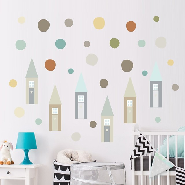 Decorative Wall Stickers - Plane Wall Stickers Little Houses Nursery / Kids Room