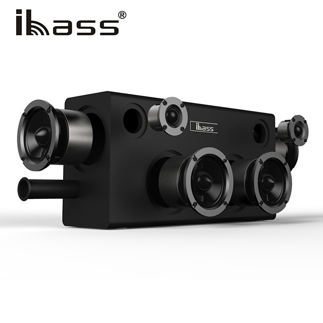 IBASS GaGa Wooden Bluetooth Speaker 70W Car Outdoor Home 6-unit Speaker TV Computer Cell Phone Audio Compatible Coaxial AUX USB