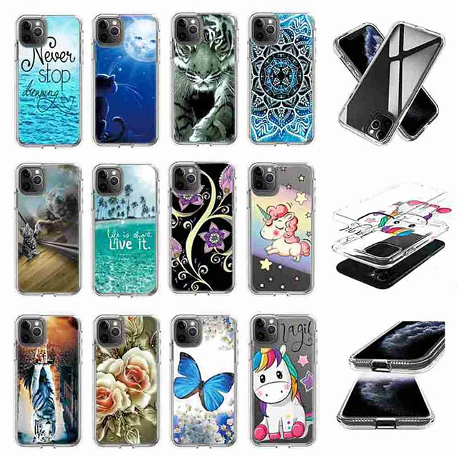 Case For Samsung Galaxy S10 / S10 Plus / S10 E Shockproof / Pattern Back Cover Card Transparent Case TPU for A10s / A20s / A50(2019) / A70(2019) / Note 10 Pro / A51 / A71