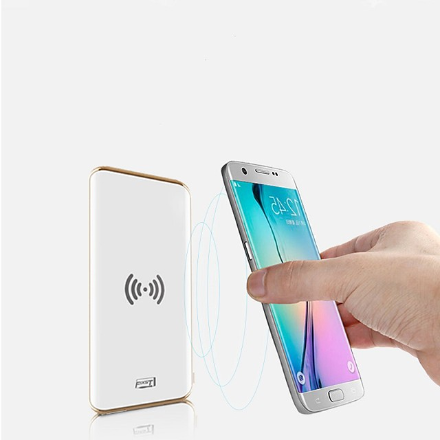 FIXST 8000 mAh For Power Bank External Battery 5 V For 2.1 A / 1 A For Battery Charger Wireless Charger LED