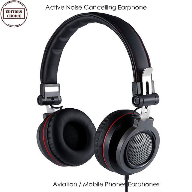 LITBest KA03 Over-ear Headphone Wired with Microphone with Volume Control HIFI ANC Active Noice-Cancelling for Mobile Phone