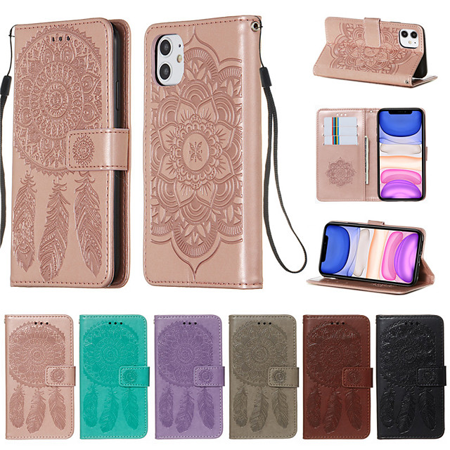 Apple iPhone11 Pro Max iPhoneX XR XsMax iPhone7 / 8 6 / 6sPlus All Inclusive Protective Case Card Clip Wallet PU Leather