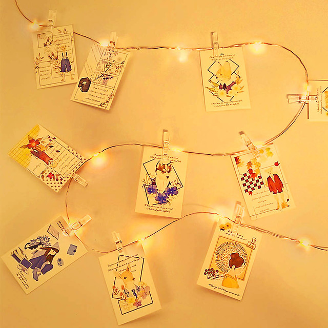 5M Photo Clip LED String Lights USB Fairy Lights Garland Christmas Decoration Party Wedding Xmas for Bedroom Wall Bar Cabinet