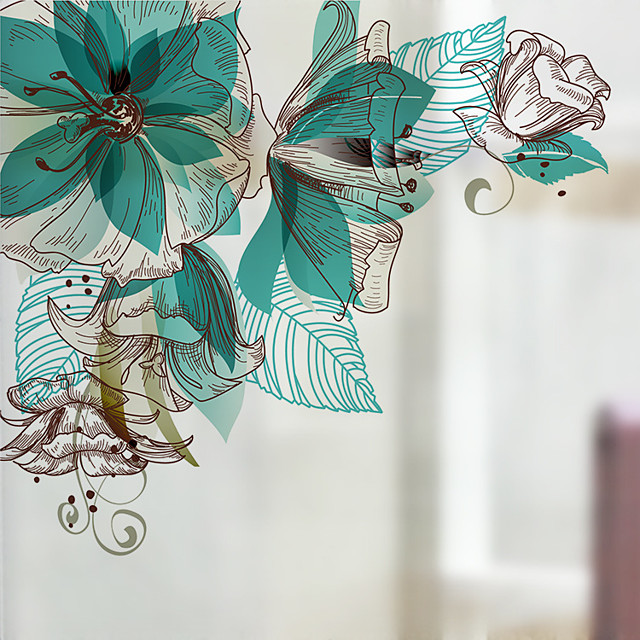 The Orchid Pattern Matte Window Film Vinyl Removable Private Home Decor / Door Sticker / Window Sticker