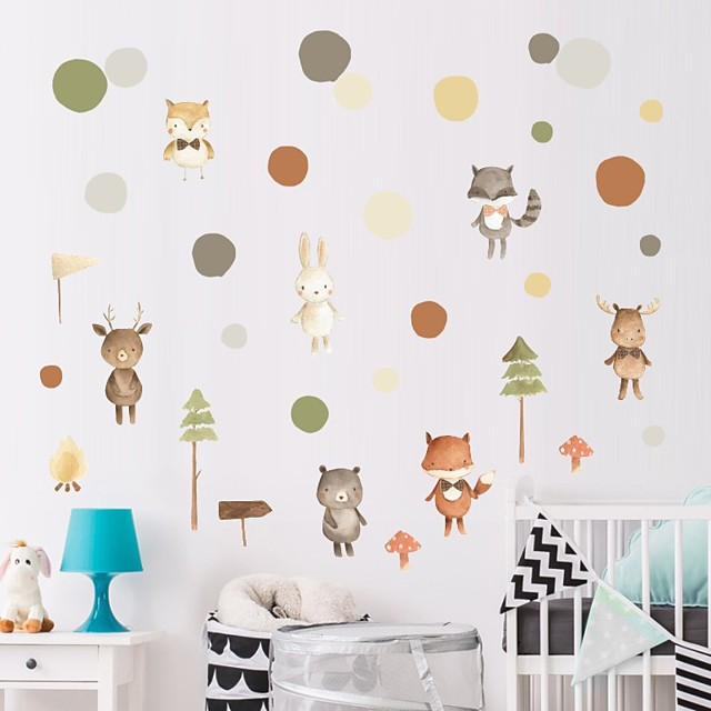Decorative Wall Stickers - Plane Wall Stickers / Animal Wall Stickers Animals / Floral / Botanical Nursery / Kids Room
