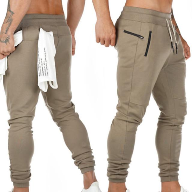 Men's Sweatpants Joggers Jogger Pants Track Pants Sports & Outdoor Athleisure Wear Bottoms Drawstring Cotton Fitness Running Jogging Breathable Soft Sport Dark Grey Black Khaki Navy Blue Army Green