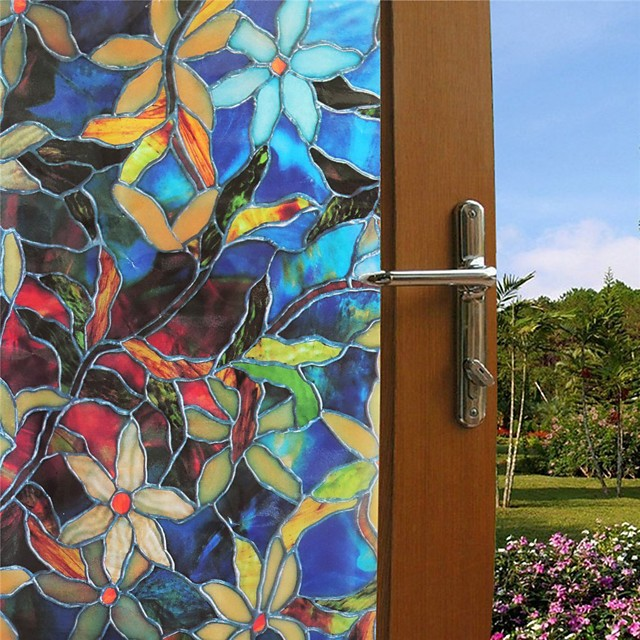 100*45cm PVC Frosted Static Cling Stained Glass Film Window Privacy Sticker Home Bathroom Decortion / Window Film / Window Sticker / Door Sticker