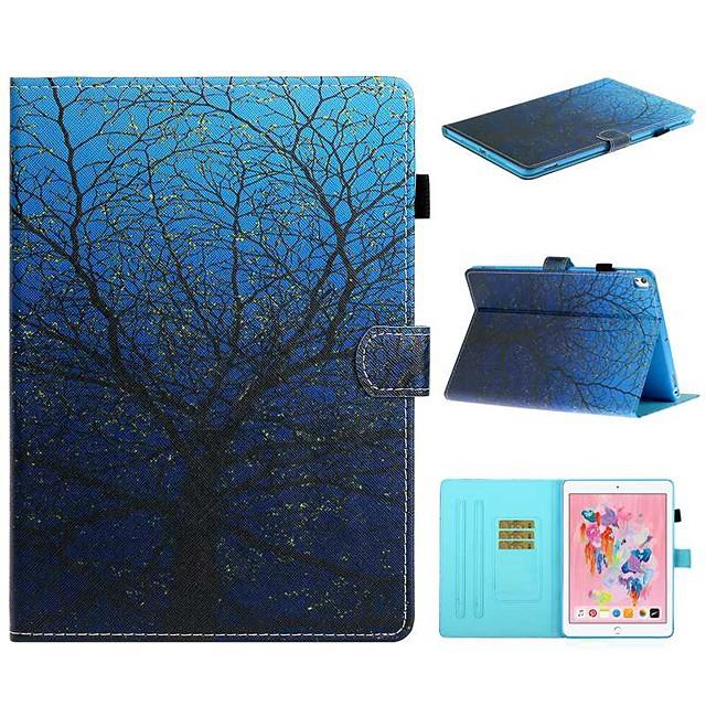 Case For Apple iPad Air / iPad (2018) / iPad 10.2''(2019) Card Holder / with Stand / Flip Full Body Cases Tree PU Leather For iPad Pro 10.5/iPad Air 2/iPad 2017