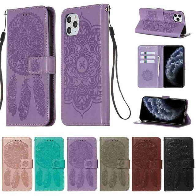 Case For Apple iPhone 11 / 11 Pro / 11 Pro Wallet / Card Holder / with Stand Full Body Cases Solid Colored PU Leather / TPU for iPhone X / XS / XR / Xs Max / 8 Plus / 7 Plus / 6 Plus