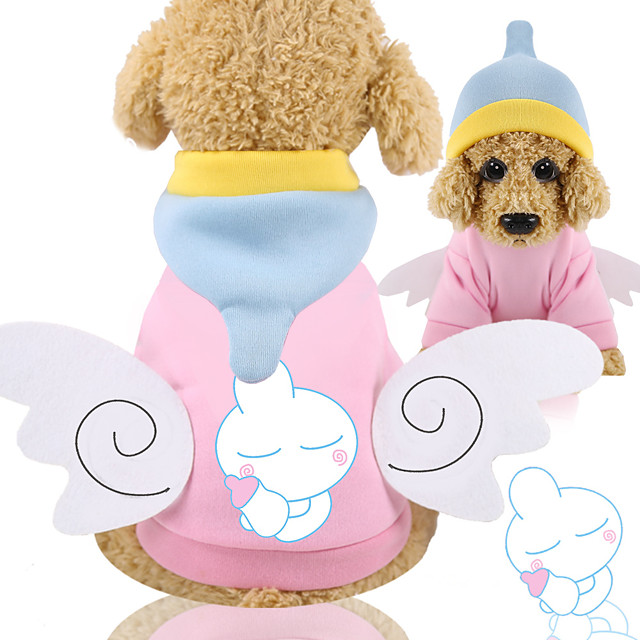Dog Cat Hoodie Winter Dog Clothes Pink Costume Husky Labrador Alaskan Malamute Fleece Cotton Ordinary Casual / Daily Leisure XS S M L XL XXL