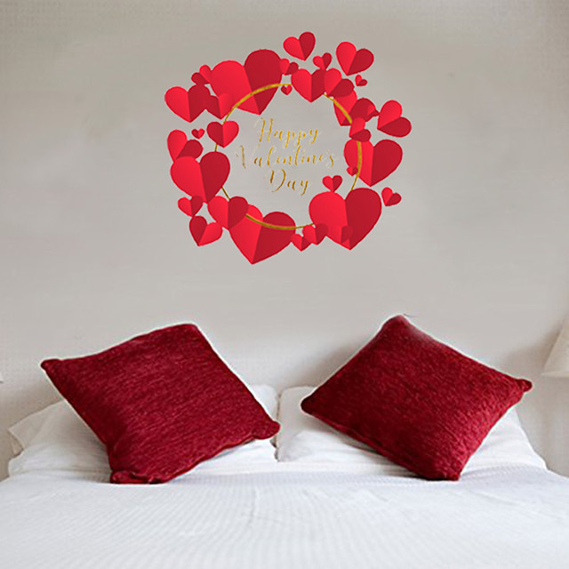 Decorative Wall Stickers - Plane Wall Stickers / Holiday Wall Stickers Hearts Bedroom / Indoor