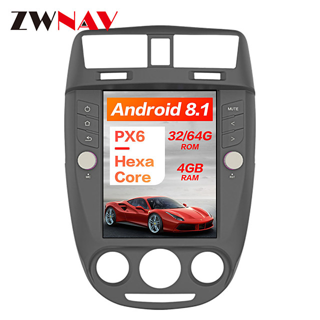 ZWNAV 10.4 inch 1 Din Android 8.1 Tesla style 4GB 64GB Car GPS Navigation In-Dash Car DVD Player multimedia player For Buick Excelle 2008-2015