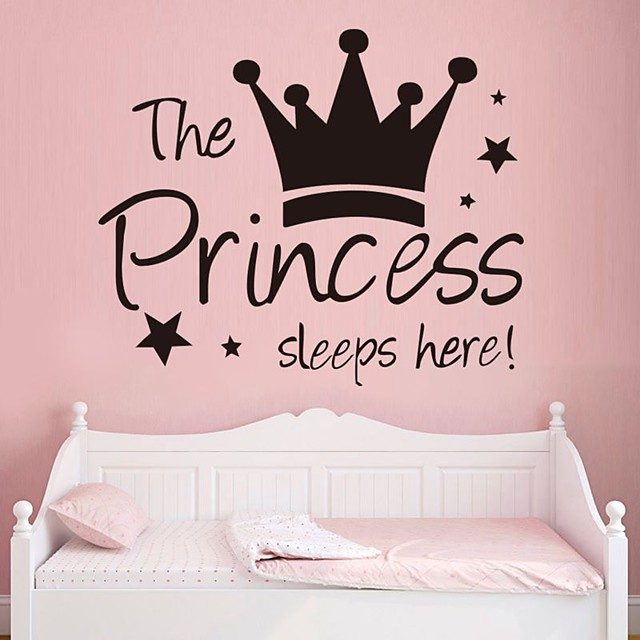 Decorative Wall Stickers - Plane Wall Stickers Characters / Princess Nursery / Kids Room