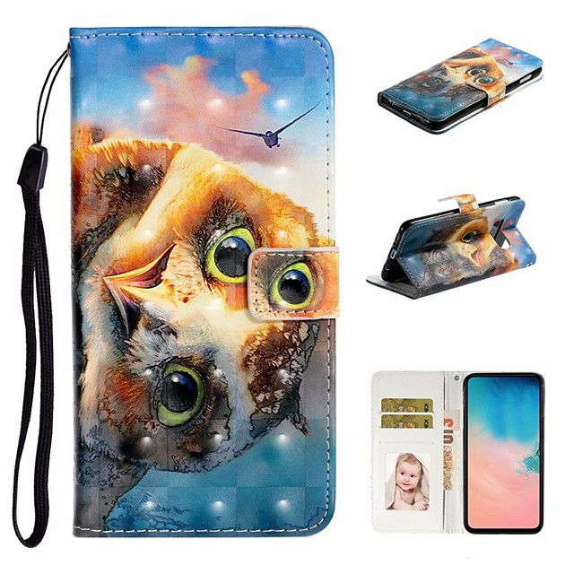 Case For Samsung Galaxy S9 / S9 Plus / S8 Plus Wallet / Card Holder / with Stand Full Body Cases Animal PU Leather For Galaxy S8/S10/S10 Plus/S10E/S7/S7 Edge