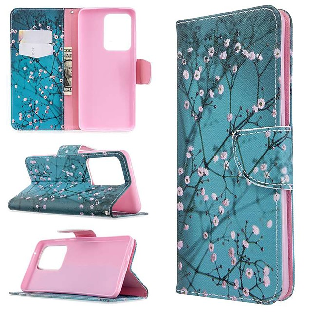 Case For Samsung Galaxy S20 Ultra / S20 Plus / S10 Plus Wallet / Card Holder / with Stand Full Body Cases Plum Blossom PU Leather Case For Samsung S9 / S9 Plus / S8 Plus / S10E /S7 Edge