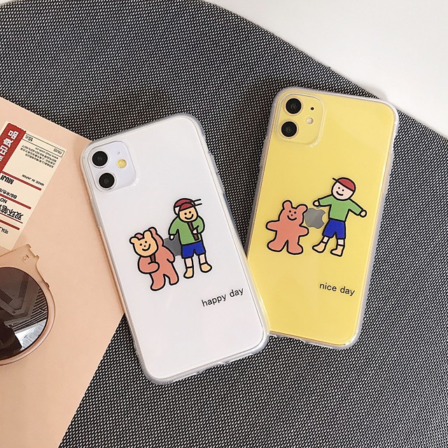 Case With (HD)Tempered Glass Front Screen Protector For Apple iPhone 11 /11 Pro /11 Pro Max Dustproof / Transparent / Pattern Back Cover Cartoon TPU for iPhone 7/7P/ 6 /6p/XS/XR/XS MAX