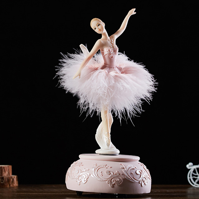 Music Box Ballerina Music Box Wooden Music Box Antique Music Box Music Box Dancer Novelty Holiday Retro Creative Unique Resin Women's All Girls' Kid's Adults Child's 1 pcs Graduation Gifts Toy Gift