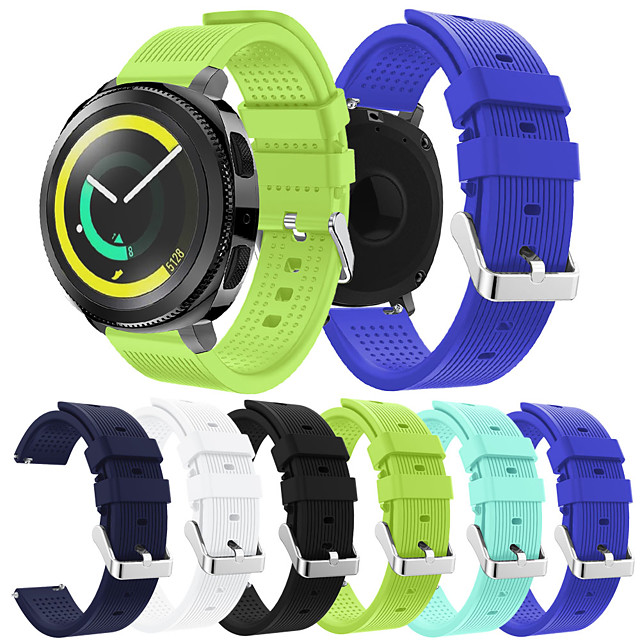 Smartwatch Band for Samsung Gear sport /Galaxy 42 / Active / Active2 / Gear S2 / S2 Classic Band Fashion Soft comfortable Silicone Wrist Strap 20mm