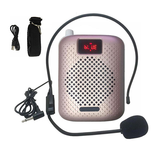 Bluetooth Megaphone Portable LED Voice Amplifier Waist Band Clip Support Radio TF MP3 for Tour Guides Teachers Column
