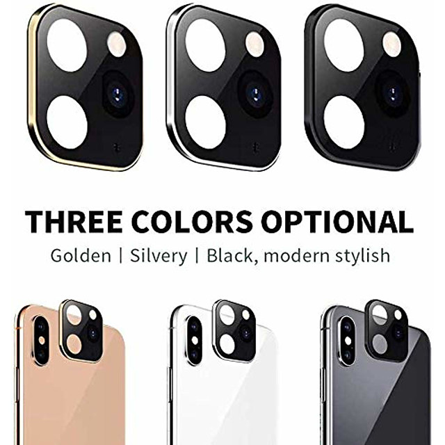 Camera Lens Cover For iPhone X XS Max Apperance Seconds Change To For 11 Pro Max Ultra-Thin Titanium Alloy Lens Protective Ring