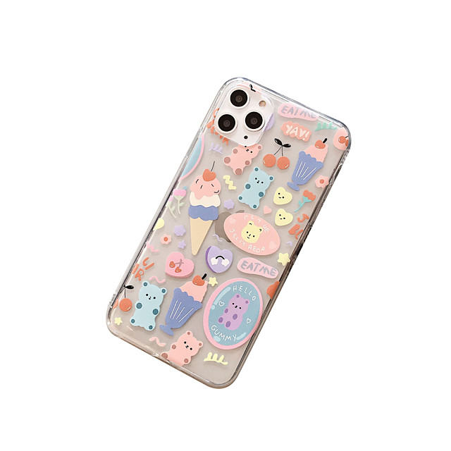 Case With (HD)Tempered Glass Front Screen Protector For Apple iPhone 11 /11 Pro /11 Pro Max Transparent Back Cover Cartoon TPU for iPhone 7/7P/ 6 /6p/XS/XR/XS MAX
