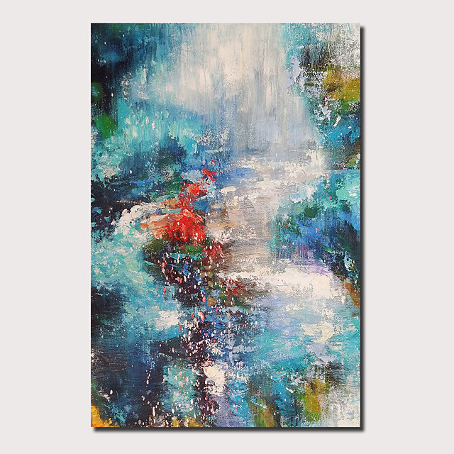 Oil Painting Hand Painted - Abstract Landscape Comtemporary Modern Stretched Canvas