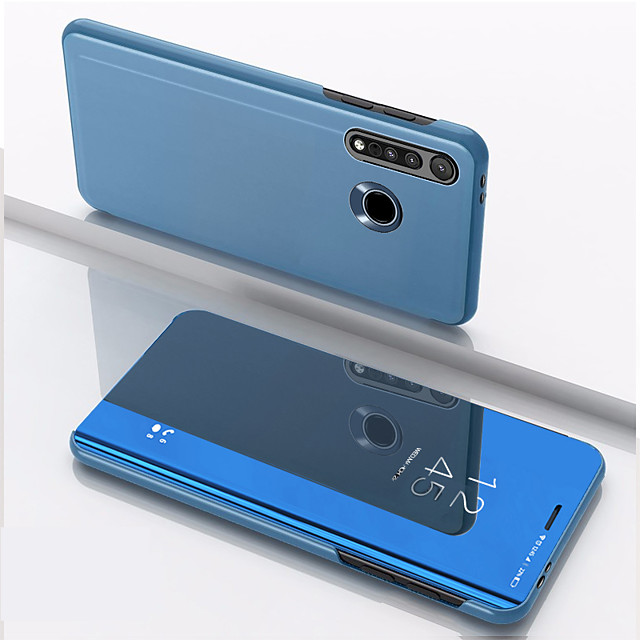 Case For Motorola MOTO G8PLUS Shockproof / Mirror / Flip Full Body Cases Solid Colored Tempered Glass