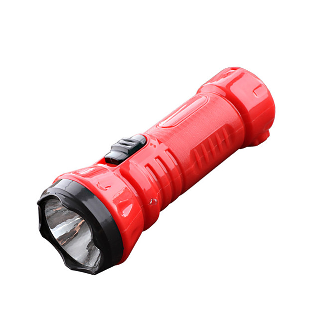LED Flashlights / Torch 100 lm LED LED 1 Emitters 1 Mode Portable Camping / Hiking / Caving Everyday Use Cycling / Bike Black Red