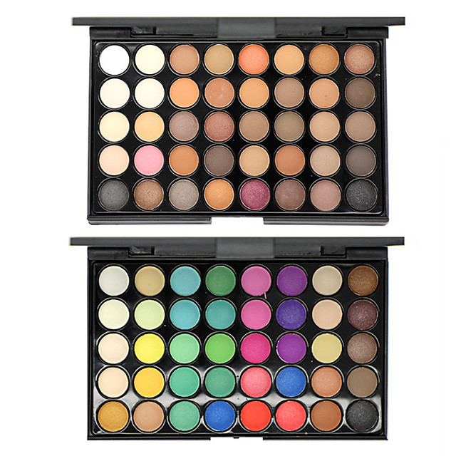 40 Colors Eyeshadow Eyeshadow Palette Matte Cosmetic EyeShadow Face Easy to Carry Women Best Quality Pro Ultra Light (UL) Girlfriend Gift Safety Convenient Daily Makeup Halloween Makeup Party Makeup