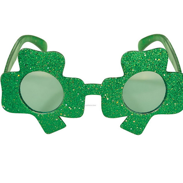 Kiss Irish Green Velour Party Cosplay ST Patrick's day Pride Costume Clover Glasses