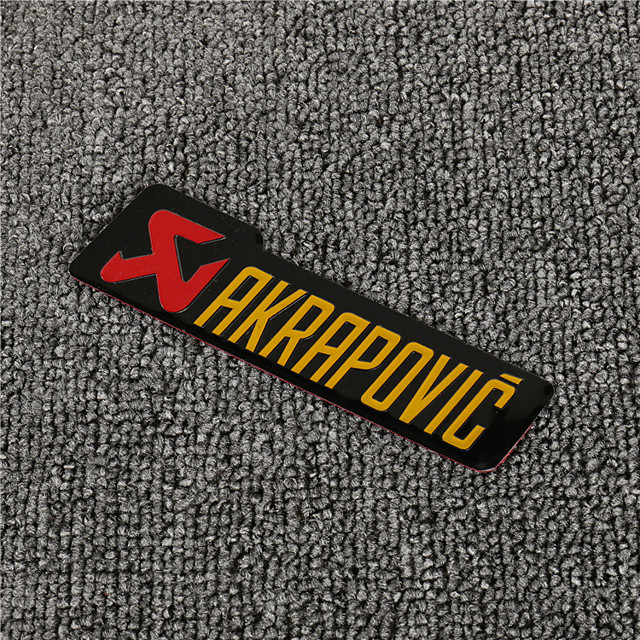 3D Aluminum Heat-resistant Motorcycle Exhaust Pipe Decal Sticker for AKRAPOVIC 5PCS Whole Sale