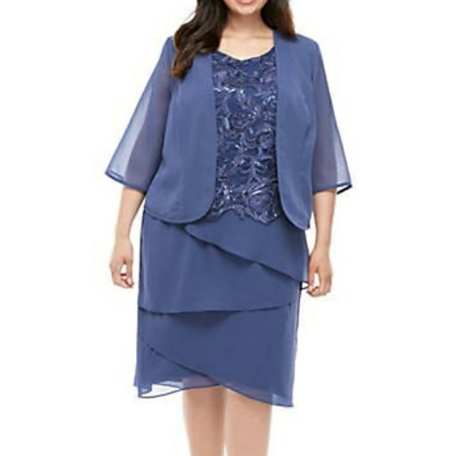 3/4 Length Sleeve Coats / Jackets Chiffon Wedding Women's Wrap With Solid